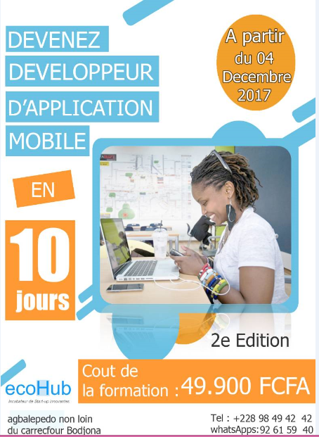 DEVENEZ DEVELOPPEUR D'APPLICATION MOBILE